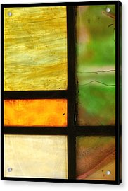 Stained Glass 5 Acrylic Print by Tom Druin