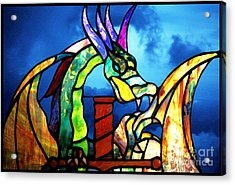 Stained Glass Dragon Acrylic Print