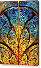 Stained Glass Expression Acrylic Print