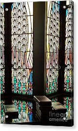 Acrylic Print featuring the photograph Stained Glass by Lawrence Burry