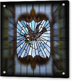 Stained Glass Lc 13 Acrylic Print by Thomas Woolworth
