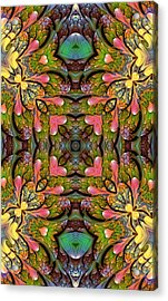 Acrylic Print featuring the digital art Stained Glass by Lea Wiggins