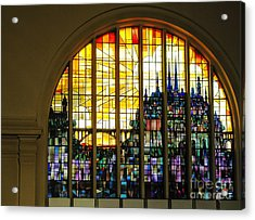 Stained Glass Luxembourg Acrylic Print