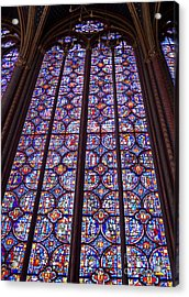 Stained Glass Magnificence Acrylic Print by Ann Horn
