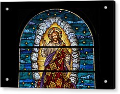 Stained Glass Pc 03 Acrylic Print by Thomas Woolworth