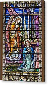 Stained Glass Acrylic Print by Susan Candelario