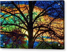 Stained Glass Tree Acrylic Print
