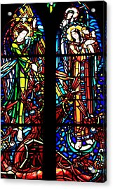 Stained Glass Window At Mont  Le Saint-michel Acrylic Print