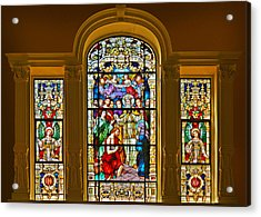 Stained Glass Window Cathedral St Augustine Acrylic Print