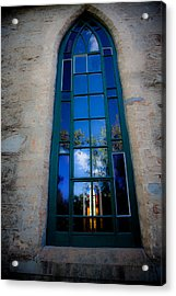 Stained Glass Window In Window Acrylic Print