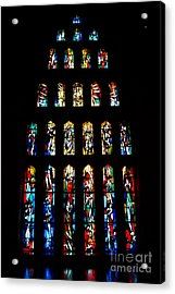 Stained Glass Windows At Basilica Of The Annunciation Acrylic Print by Eva Kaufman