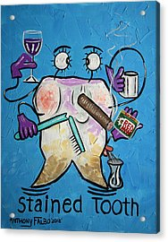 Stained Tooth Acrylic Print