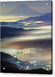 Staining Sea Of Clouds Acrylic Print