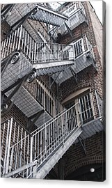 Stair Way Acrylic Print by Gretchen Lally
