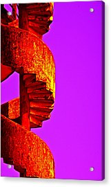 Acrylic Print featuring the photograph Staircase Abstract by Dennis Cox WorldViews