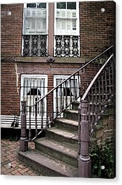 Staircase And Shutters Acrylic Print by Linda Ryan