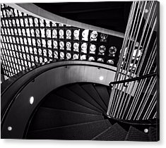 Staircase In Black And White Acrylic Print by Dan Sproul