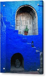 Staircase In Blue Courtyard Acrylic Print