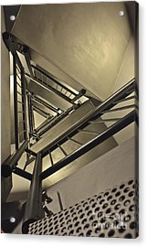 Acrylic Print featuring the photograph Stairing Up The Spinnaker Tower by Terri Waters