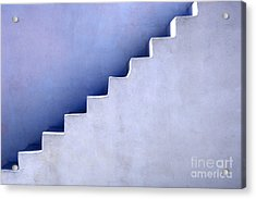 Stairs In Santorini Acrylic Print by Bob Christopher