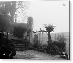 Stairs In The Fog Acrylic Print
