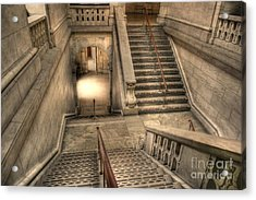 Stairs Up And Down Acrylic Print by David Bearden