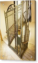 Stairway And Traditional Lift In Apartment Acrylic Print by Ton Kinsbergen/science Photo Library