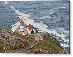 Acrylic Print featuring the photograph Stairway Leading To Point Reyes Lighthouse by Jeff Goulden