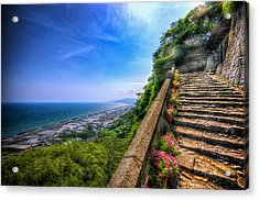 Stairway Temple Acrylic Print
