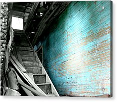 Stairway To Abandoned Acrylic Print by Amy Sorrell