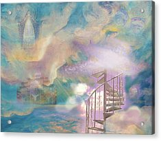 Stairway To Heaven Acrylic Print by Anne Cameron Cutri