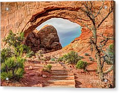 Stairway To Heaven - North Window Arch Acrylic Print