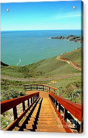 Acrylic Print featuring the photograph Stairway To Heaven by Sarah Mullin
