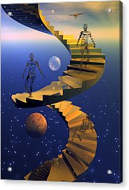 Stairway To Imagination Acrylic Print by Claude McCoy
