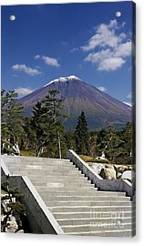 Acrylic Print featuring the photograph Stairway To Mt Fuji by Ellen Cotton