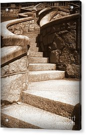 Stairway To Acrylic Print by Nancy Dole McGuigan