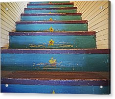 Stairway To...... Acrylic Print by Steven  Michael