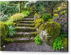 Acrylic Print featuring the photograph Stairway To The Secret Garden by Priya Ghose