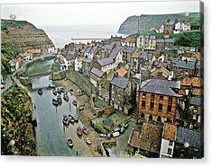 Staithes Yorkshire Uk 1980s Acrylic Print by David Davies