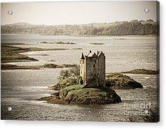 Stalker Castle Vintage Acrylic Print by Jane Rix