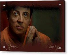 Stallone Acrylic Print by Mark Gallegos