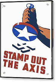Stamp Out The Axis Acrylic Print by Unknown
