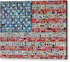 Stamps And Stripes Acrylic Print by Gary Hogben