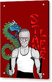 Stan Lee Acrylic Print by Gary Niles