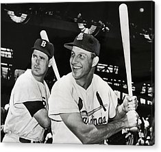 Stan Musial And Ted Williams Acrylic Print
