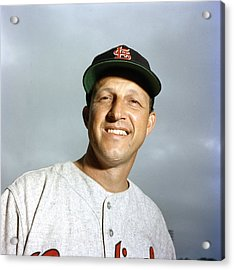 Stan Musial Close Up Acrylic Print by Retro Images Archive