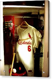 Stan The Man's Locker Stan Musial Acrylic Print