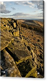 Stanage Edge Acrylic Print