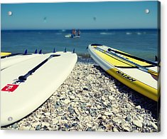 Stand Up Paddle Boards Acrylic Print by Stelios Kleanthous