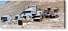Standard Mill At Bodie Panorama Acrylic Print by Barbara Snyder